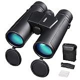 ENKEEO- Prismáticos 10x42mm Binoculares Impermeables FMC BAK-4 Roof Compatible con el Teléfono Clear Vision para Conciertos Deportivos Juegos Sightseeing Hunting Bird Watching