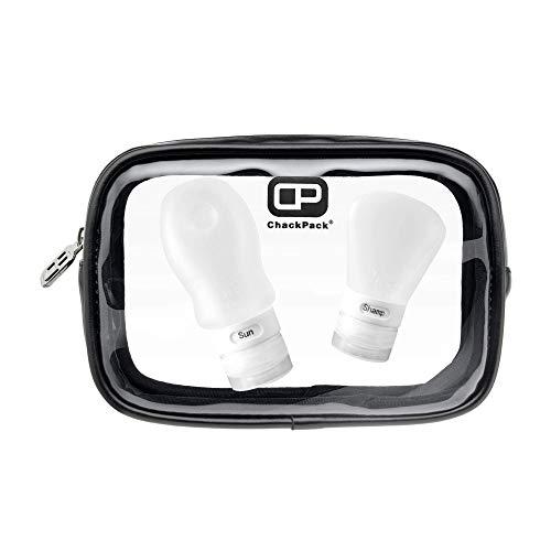 ChackPack Air, premium toilettas, transparant, ontworpen in Duitsland, 1 l, doorzichtig, doorzichtige toilettas voor handbagage en vliegtuig