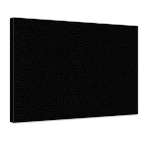 Bilderdepot24 Leinwand in schwarz, bemalbare Premiumqualität, aufgespannt auf Galerie Keilrahmen - Echtholz - Digital-Format - 80x60 cm - 330g/m² - fertig gerahmt, 7 Farben verfügbar