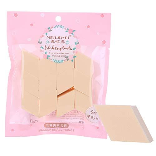 Minkissy 2 Sacs / 24 PCS Forme de Diamant Puff Cosmétique Compresser Éponge Nettoyante Pour Le Visage Éponge De Lavage Maquillage Outil Exfoliant