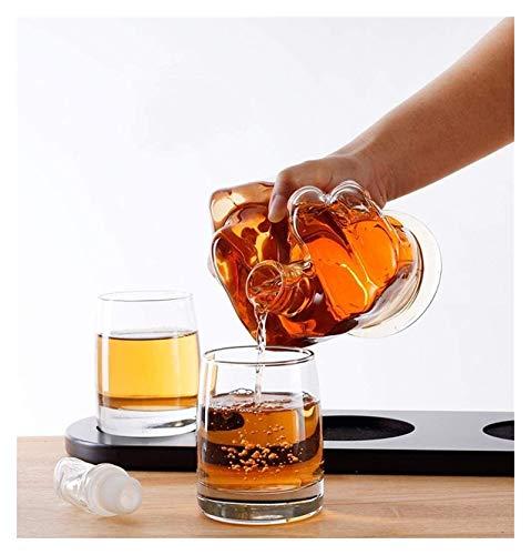 WHZG Exquisito Dedo Medio novedad Whiskey Decanter, decantador de whisky reutilizable, para que alguien que amas