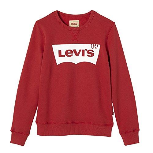 Levi's Sweat Nos Batwi, Sudadera para Niños, Rojo (Red), 16 años