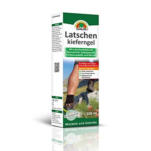 SUNLIFE Latschenkieferngel: Zur Pflege von müden und strapazierten Beinen, Muskeln und Gelenke, 100ml