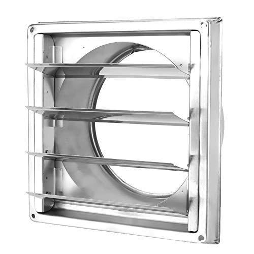 Campana de ventilación de Aire, Cubierta de conducto de ventilación de Acero Inoxidable Cubierta de Rejilla de Rejilla Salida de Aire Cuadrada Cubierta de ventilación del Extractor