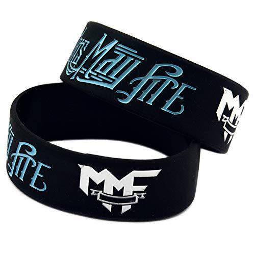 Hjyi Siliconen Armbanden Rubber Armbanden, Memphis May Fire Rock Band Star Siliconen Armband, Zachte en Comfortabele Siliconen Polsband Sport Fitness Armband, 6 Stks