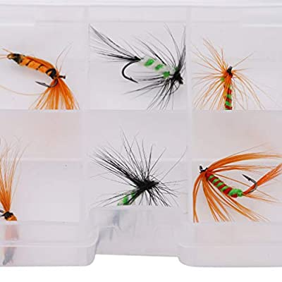 LnLyin Fly Fishing Dry Flies Lure Hooks Artificial Bionic Butterfly Fly Fishing Hooks Set with Case Box from LnLyinl