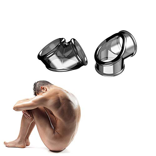 Scopri offerta per Interessante anello in silicone morbido a doppio foro, più potente, ritardo più lungo, arma da uomo.