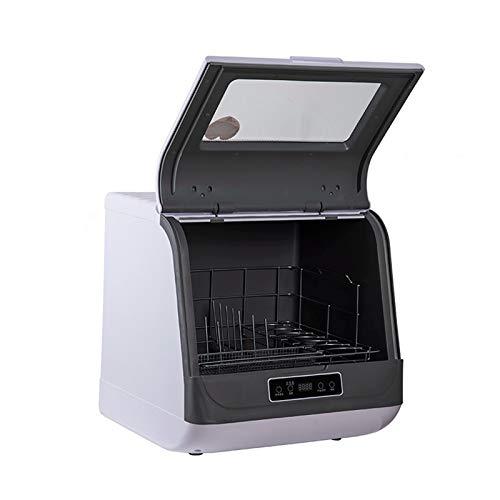 Automatische Geschirrspüler Desktop Haushalt Kleine Hochtemperatur-Sterilisation Unabhängige Bürste Schüssel Installation frei Maschine (weiß)