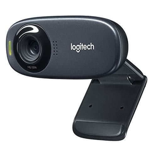 Logitech C310 Webcam, HD 720p, 60° Sichtfeld, Fester Fokus, Belichtungskorrektur, USB-Anschluss, Rauschunterdrückung, Universalhalterung, Für Skype, FaceTime, Hangouts, etc., PC/Mac/Android/Chromebook