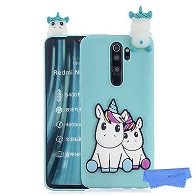 HopMore Funda para Xiaomi Redmi Note 8 Pro Silicona Blando Dibujo 3D Divertidas Panda Animal Carcasa TPU Ultrafina Slim Case Antigolpes Caso Protección Cover Design Gracioso - Unicornio Verde