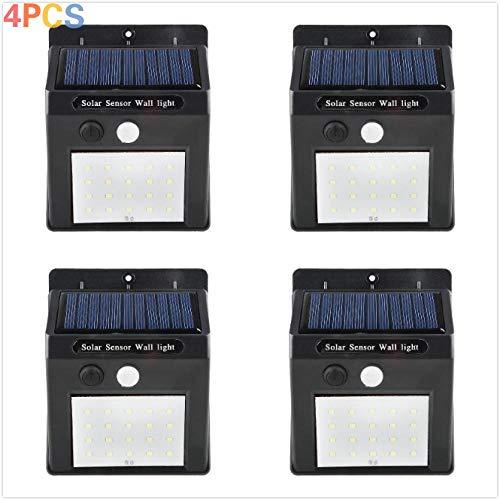 Solar Lights Outdoor, Xlzsp 20 Led Solar Motion Sensor Beveiliging Lights Waterdichte Draadloze Zonne Aangedreven Licht Outdoor Wandlampen Solar Lamp, Hek, Buiten Muur. (4packs)