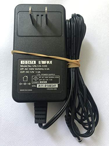 I-O DATA UNIFIVE ACアダプター USL124-1220 12V 1.5A センターピンあり