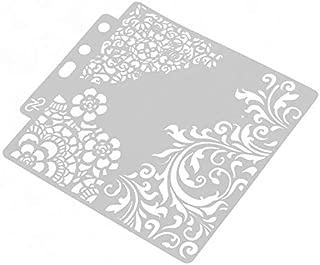 Bianco Marianne Design Timbri Texture Macchioline per Aggiungere dei Coloratissimi Sfondi alle Vostre Creazioni con la Carta 14,9 x 21 cm