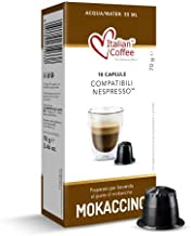 Mokaccino Italian Coffee Flavored drink pods compatible only with Nespresso machines (120 capsules)