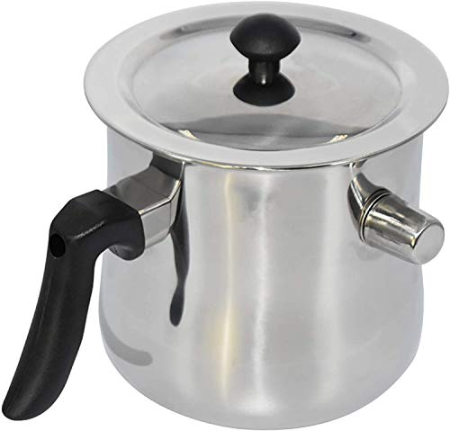 Bee Wax Melting Pot Beeswax Melting Pot Portable Wax Cup with Handle Stainless Steel 1.5L Large Capacity Candle Making Pouring Pot