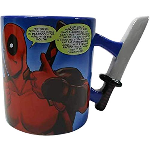 Silver Buffalo Ceramic Mug, 20-Ounce, Deadpool Thumbs Up