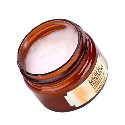 Hydrating Argan Oil Hair Treatment Mask, Professional Hair Deep Nourishing Hair Conditioner, 5 Seconds Repairs Damage Hair Root Hair Tonic Keratin Repair Hair Mask & Scalp