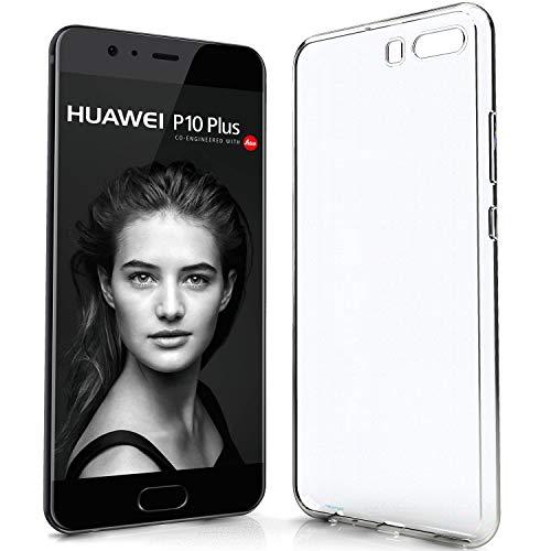Newtop Cover Compatibile per Huawei P10 Plus, Custodia TPU Clear Gel Silicone Trasparente Slim Back Case Posteriore