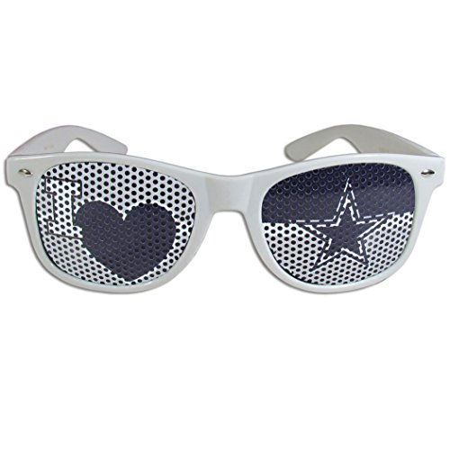 NFL Dallas Cowboys I Heart Game Day Shades, Blanco, Adulto, color blanco