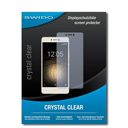 SWIDO Schutzfolie für BQ Aquaris U Plus [2 Stück] Kristall-Klar, Hoher Festigkeitgrad, Schutz vor Öl, Staub & Kratzer/Glasfolie, Bildschirmschutz, Bildschirmschutzfolie, Panzerglas-Folie