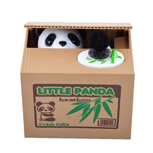 TOPofly El Robo del Banco de Moneda de la Panda del Estilo de Ahorro del Banco guarro del pote del Dinero de Banco de los niños Juguete de Regalo el Robo de la Caja de Dinero