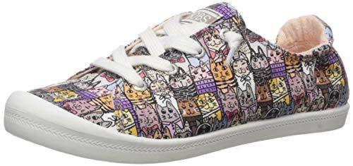 Skechers Women's Beach Bingo-Alley Cat Scrunch Back Sneaker