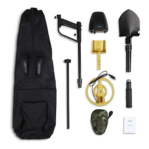 INTEY Classic Metal Detector - Lightweight Gold Digger with Pinpoint Function/ Waterproof Search...