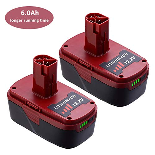 2Pack 6.0Ah 19.2 Volt C3 Replacement Lithium Battery for Craftsman XCP 20V 130211004 11375 11045 130279005 315.11485