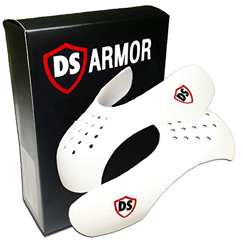 Shoe Shields Crease Preventers by DS Armor, Sneaker Toe Box Decreaser Men 7.5-13 / Women 5-9 (Mens 7.5-13)