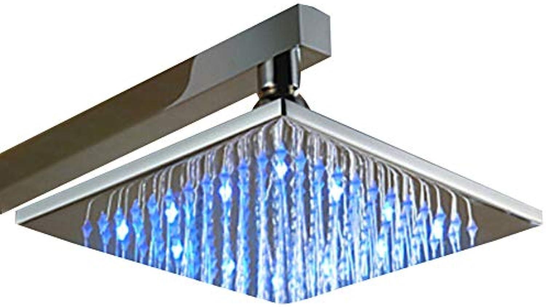 DWhui Duschkopf Duschkopf mit LED-Hochleistungsregen und feststehendem Chrom, angetrieben von flieendem Wasser - für Beste Entspannung und Spa