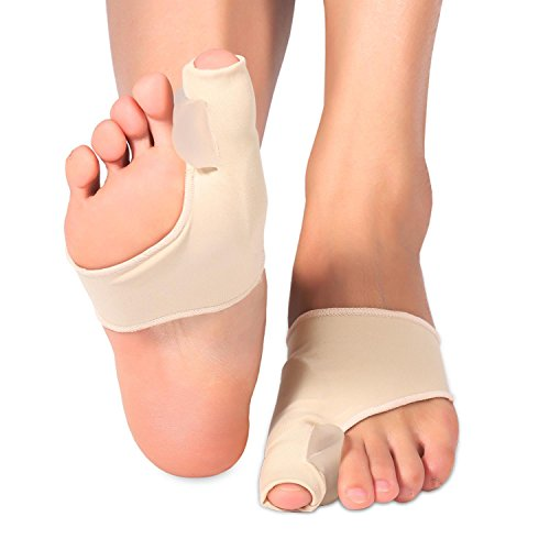 1 Par Almohadilla de gel protector de juanetes mangas corrector Pad con separador Plancha 2 separadores de dedos espaciadores y botines para Hallux Valgus juanete del dedo gordo pie alivio del dolor