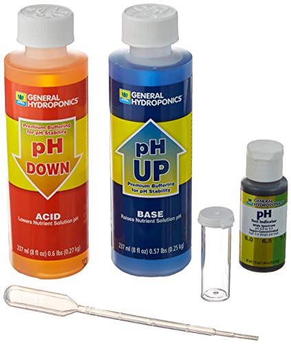 Save on General Hydroponics pH Control Kit for a Balanced Nutrient Solution and more
