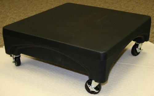 "Forte Products 8002291 Mini Plastic Merchandiser with Wheels, 24"" L x 24"" W x 9"" H, Black"