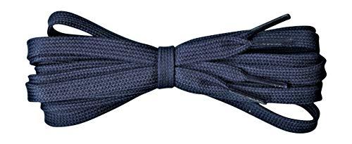 Fabmania Cordones planos de algodón para zapatos - 8 mm de ancho - Azul marino - Largo 90cm