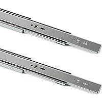 1 par (2 piezas) Guía para cajón de extracción total y SoftClosing Alto 45 mm/L 400 mm Carril de cajón