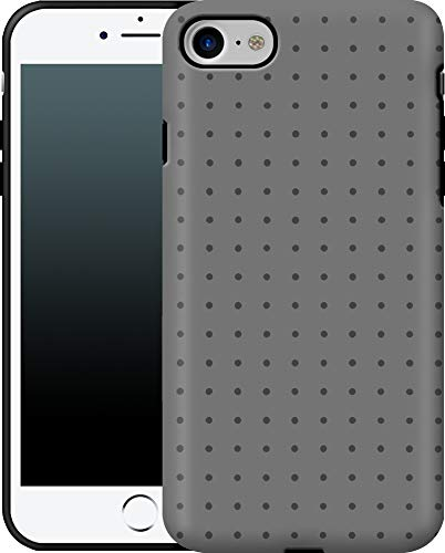Premium - Funda para iPhone 7/8/SE (2020), diseño de Lunares, Color Gris