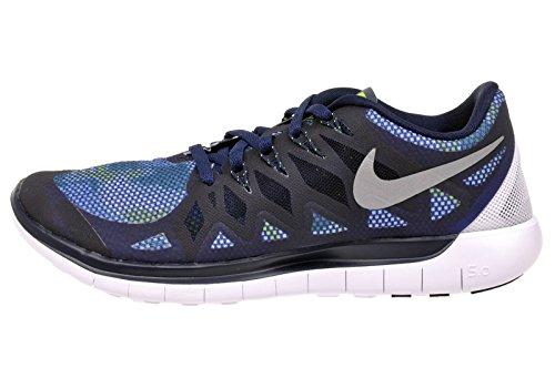 Nike Free TR 5, Schuhe Multisport Outdoor Damen, - Obsidian Reflective Silver Flash Lime 400 - Größe: 36,5 EU
