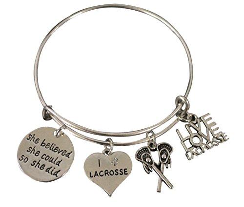 Lacrosse Armband – Lacrosse Jewelry – Lacrosse Charm Armreif – Lacrosse Geschenke für Lacrosse Spieler