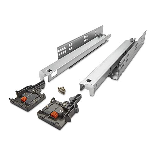 SOTECH 1 Paar FullSlide Vollauszüge UV2-35-K1D-L600-SC für Holzschublade 600 mm Schubladenschienen belastbar bis 35 Kg