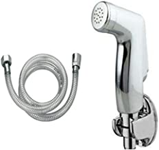 StylEra HIND BRASS HEALTH FAUCET JET SPRAY TOILET SPRAY SET (with PVC Tube and ABS Wall Hook) (1 Mtr Tube)