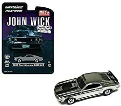 1969 Ford Mustang Boss 429 Chrome Gray Edition John Wick (2014) Movie Limited Edition to 4, 600Piece Worldwide 1/64