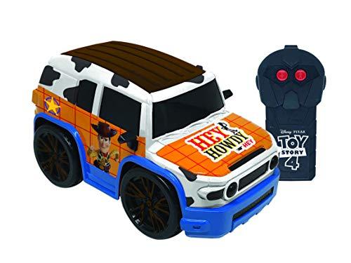 Carro de Controle Remoto Team Racer, Woody, Toy Story, 3 Funções, Candide