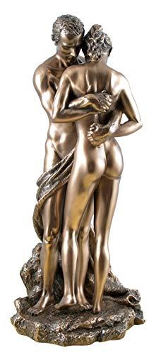 Unbekannt Die Liebenden Vertrauen Paar in Umarmung Akt bronziert Figur Skulptur Veronese
