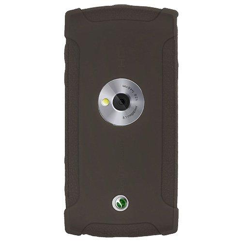 Amzer - Custodia in silicone per Sony Ericsson Vivaz, colore: Grigio