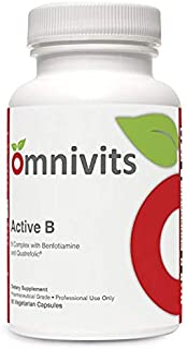 Active B | Vitamin B Complex with Benfotiamine & Folate (Quatrefolic) | Activated Forms Vitamins B2, B6 & B12 (Methylcobal...
