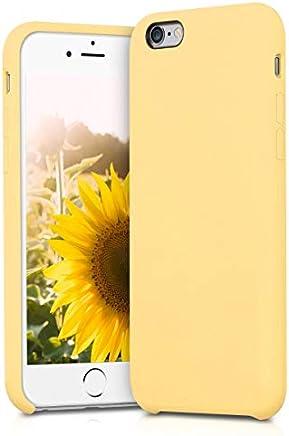 kwmobile Funda para Apple iPhone 6 / 6S - Carcasa de [TPU] para teléfono móvil - Cover [Trasero] en [Amarillo Mate]
