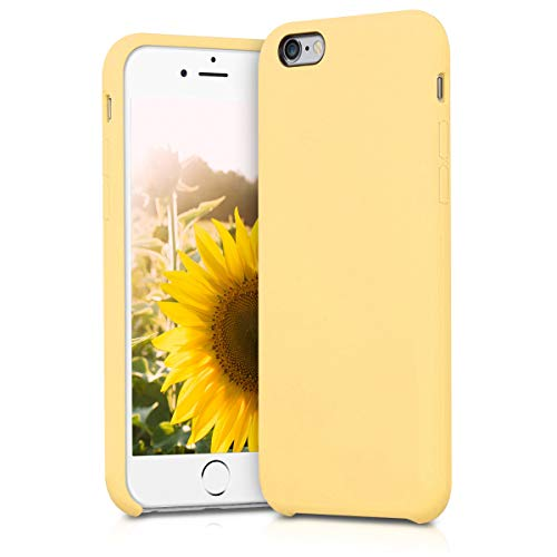 kwmobile Funda Compatible con Apple iPhone 6 / 6S - Carcasa de TPU para móvil - Cover Trasero en Amarillo Mate