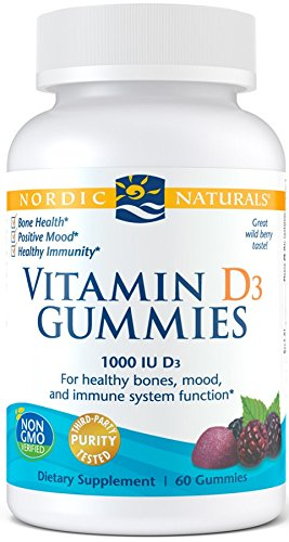 Nordic Naturals Vitamin D3 Gummies - Healthy Bones, Mood, and Immune System Function*, 60 Count