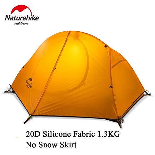 YITEJIA Waterdichte outdoor tent Naturehike Outdoor Tent Met Camping Mat 1 Persoon 20D Silicone Stof 4 Seizoen Ultralight Dubbele Lagen Tent 1.3kg 1.5kg