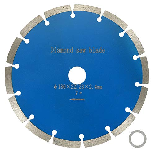 BlueCatELE 7-Inch Diamond Blade Segmented Diamond Saw Blade for Masonry Marble Concrete Tile